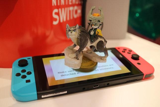 Nintendo Switch and Wolf Link amiibo