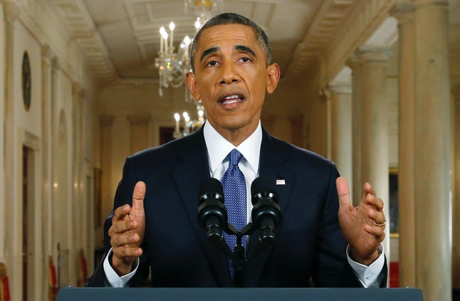 Former President Barack Obama announces executive actions on immigration, including DAPA, in a White House address in November 2014.