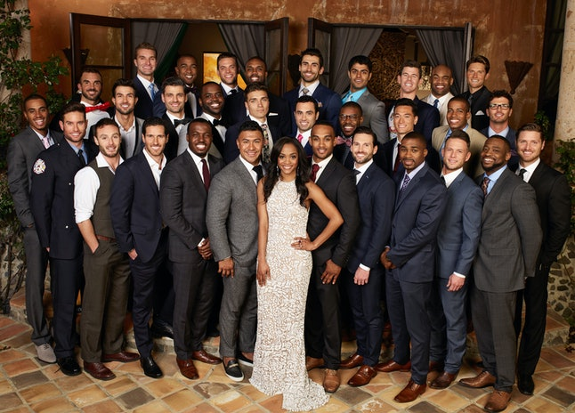 Rachel Lindsay and her suitors on 'The Bachelorette'