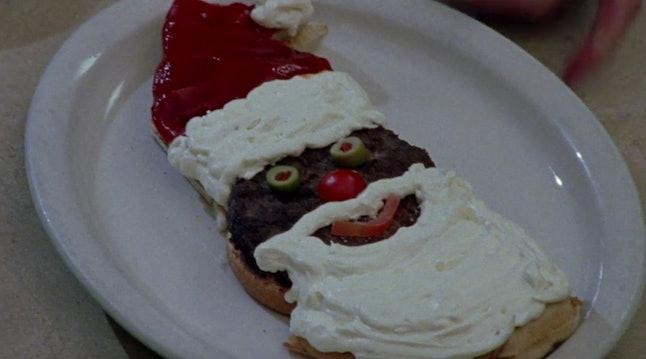 "The Santa burger from ""Forgiveness and Stuff"" (1.10)"