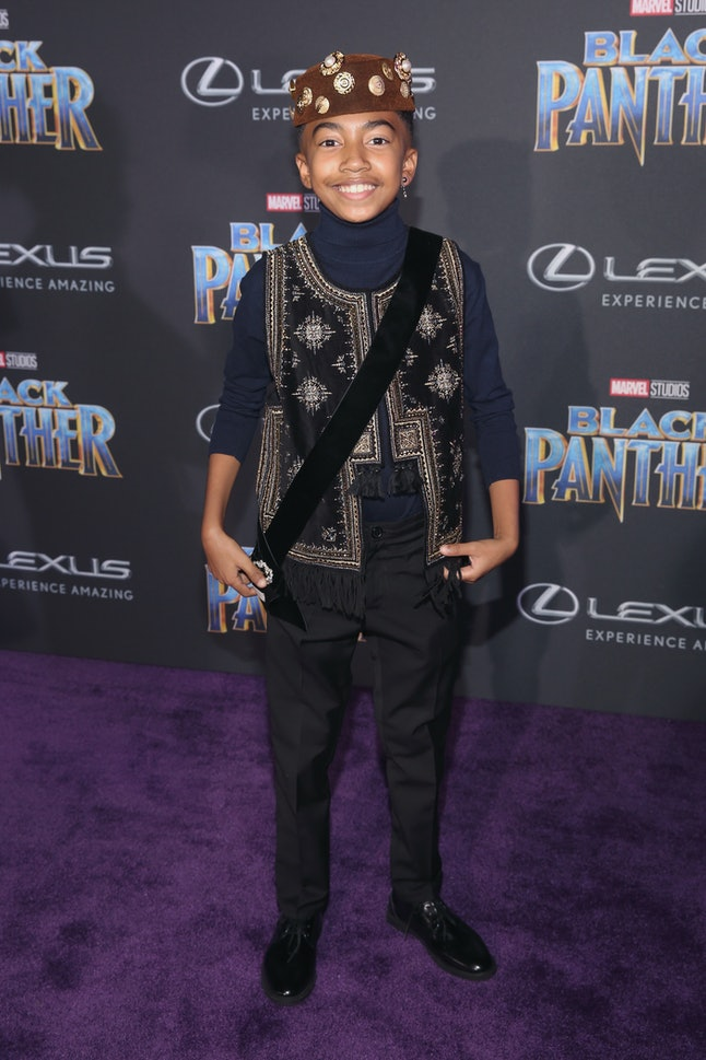 Actor Miles Brown at the Los Angeles World Premiere of 'Black Panther'