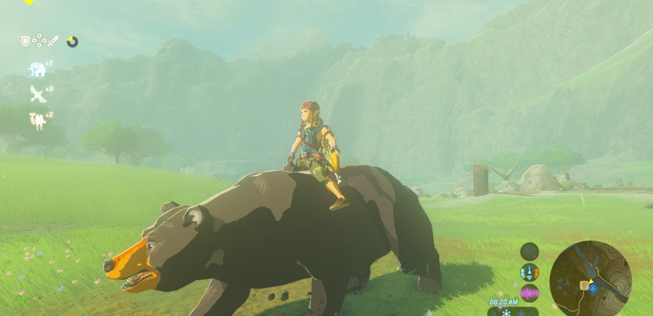 How to ride a bear in 'Zelda: Breath of the Wild': Tips