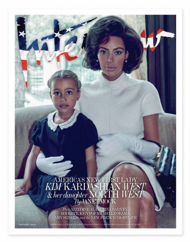 Kim Kardashian West on the cover of 'Interview'