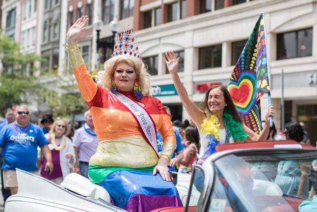 People at the 2018 Boston Pride Parade