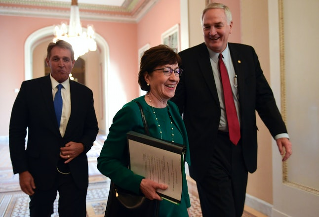 Sen. Susan Collins (R-Maine) backed the GOP tax reform bill on the condition Senate Republicans would hold a vote on extending the ACA's cost-sharing payments for two years, but that's certainly no guarantee.