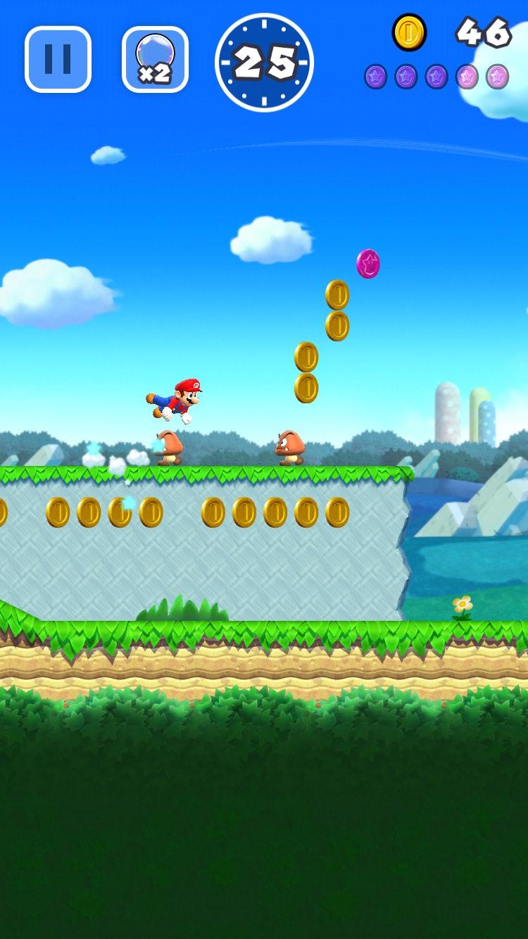 Super Mario Run' World 1 walkthrough and coin locations: How