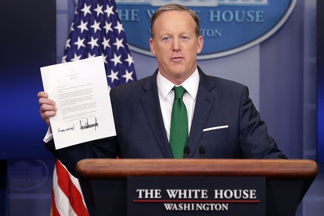 Sean Spicer addresses wiretapping claims.