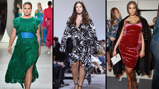 Candice Huffine, Ashley Graham and Marquita Pring, all at NYFW