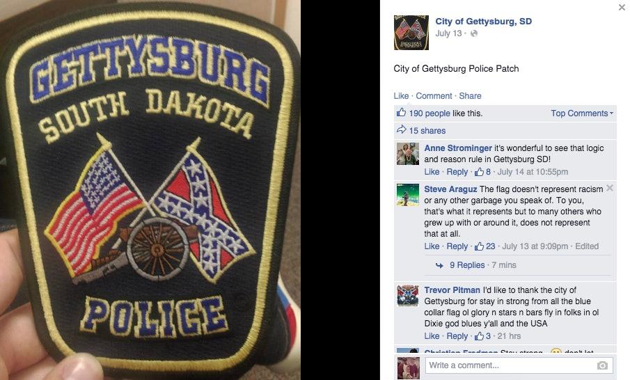 Gettysburg SD Police Dept Patch South Dakota