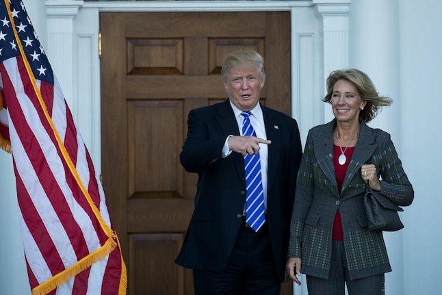 Donald Trump with Betsy DeVos