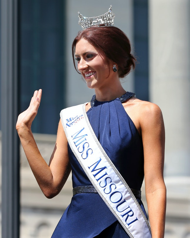 Erin O'Flaherty preparing to compete in Miss America.