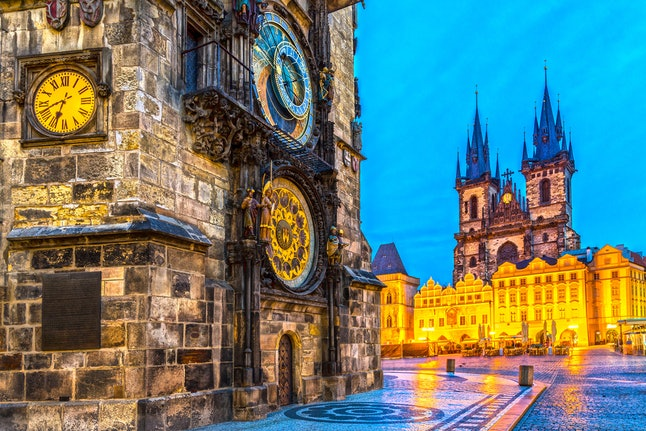 Tyn Church in the Old Town Square in Prague