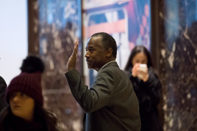 Ben Carson said that a Nazi-like force was emerging in the U.S.