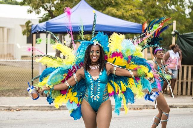 A parade participant at Crop Over in Barbados