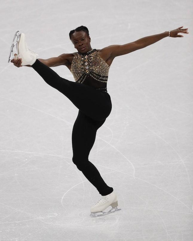 Maé-Bérénice Méité, of France, at the 2018 Winter Olympics