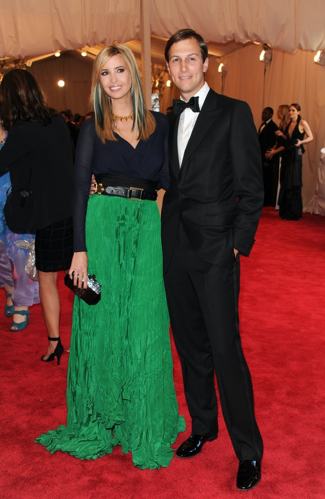 Ivanka Trump and Jared Kushner at the 2013 Met Gala