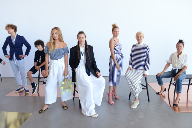 Models at the J.Crew presentation at NYFW in September