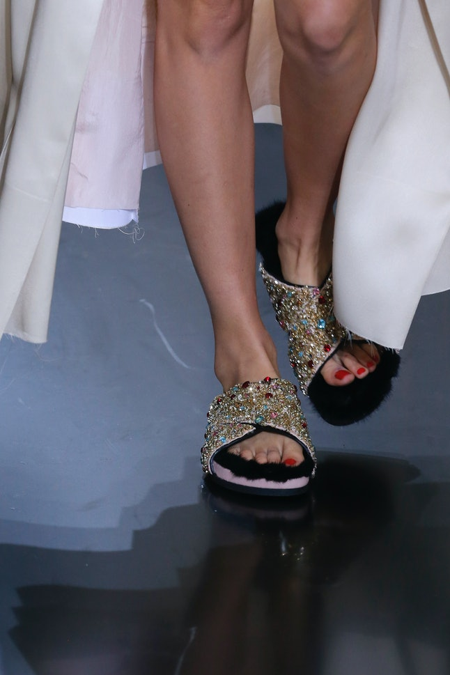 Céline's take on a Birkenstock for a 2012 fashion show in Paris