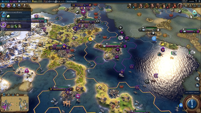 The Renaissance-era Roman Empire, built on an ice shelf and outlying coastal islands.