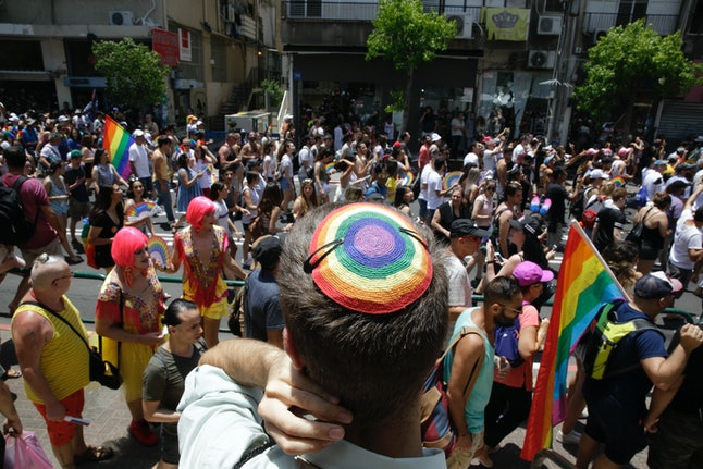 People at the Gay Pride parade in Tel Aviv