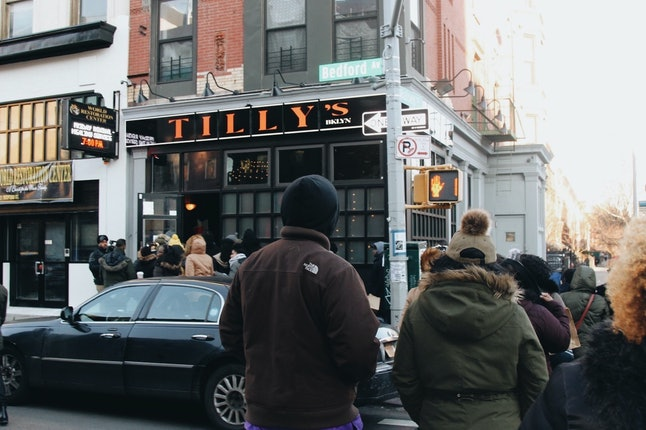 The first stop for team one of the Kwanzaa Crawl was Tilly's in Bedford Stuyvesant.