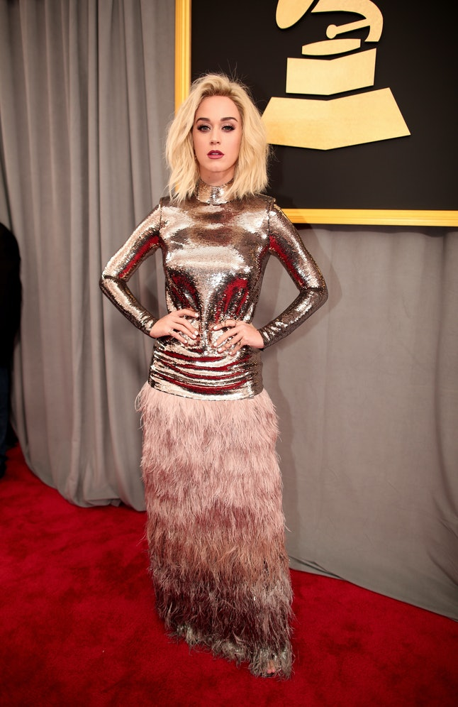 Katy Perry attends The 59th GRAMMY Awards at STAPLES Center on February 12, 2017