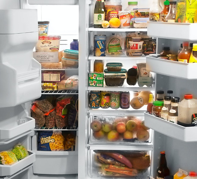 Inside a refrigerator in the United States