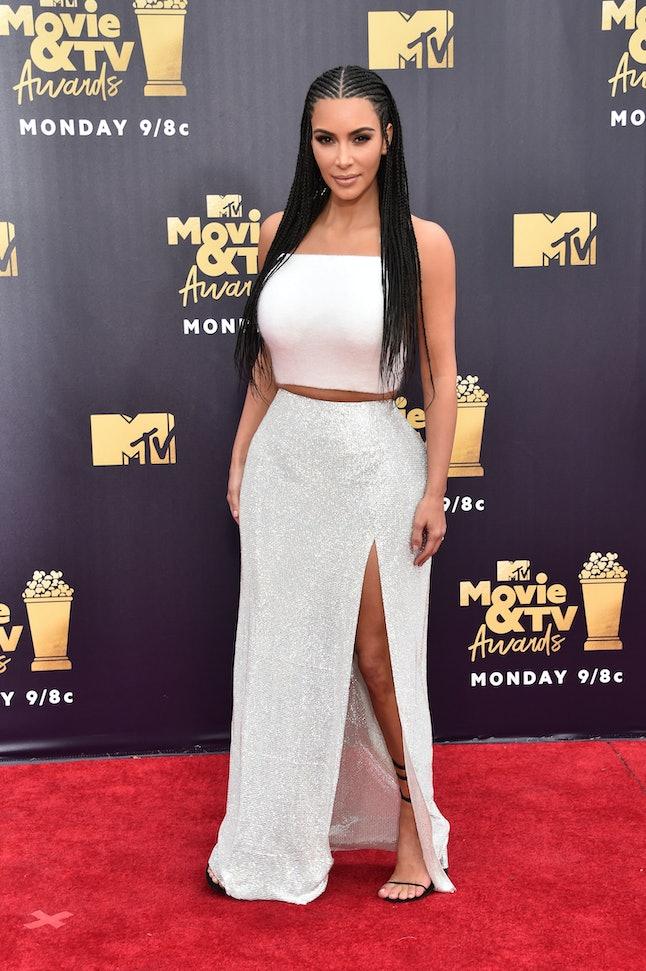 Kim Kardashian at the 2018 MTV Movie and TV Awards