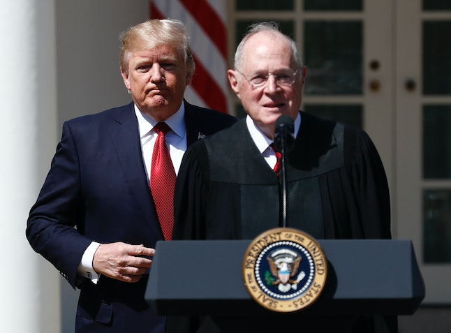 President Donald Trump would get another Supreme Court pick if Justice Anthony Kennedy retires.