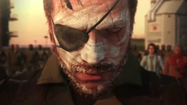Venom Snake covered with the ashes of the fallen Diamond Dogs