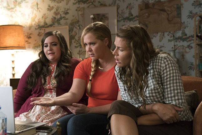 Aidy Bryant as Vivian, Amy Schumer as Renee Bennett and Busy Philipps as Jane in 'I Feel Pretty'