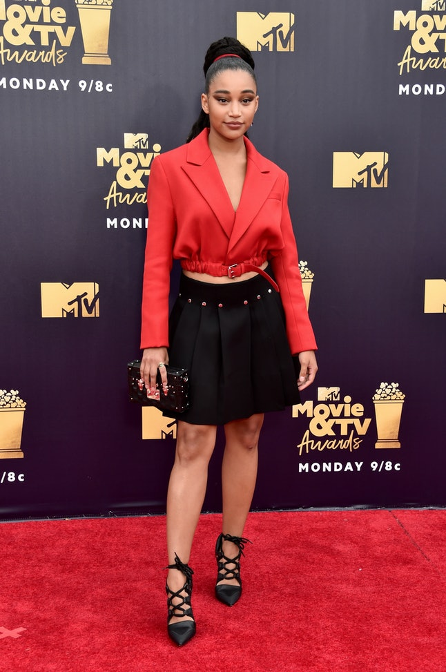 Amandla Stenberg at the 2018 MTV Movie and TV Awards