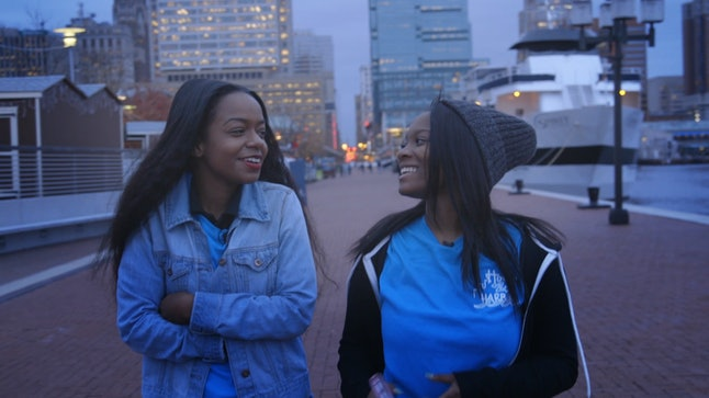 Tiana Samuels and Dayonna Tunstall, youth participants from the Inner Harbor Project in Baltimore, interviewed for The Movement.