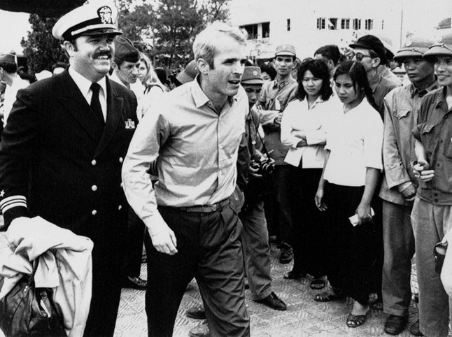 John McCain shortly after his release in 1973