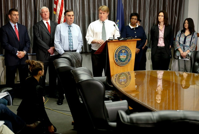 Allegheny County Executive Rich Fitzgerald answers questions about the shooting at a press conference.