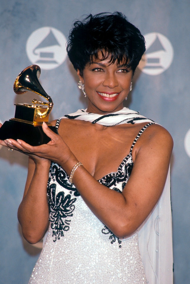 Natalie Cole at the 34th annual Grammy Awards. Feb. 25, 1992.
