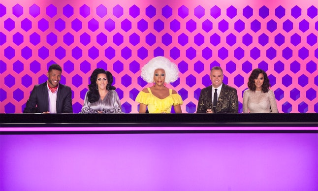 Jeffrey Bower-Chapman, Michelle Visage, RuPaul, Ross Matthews and Naya Rivera