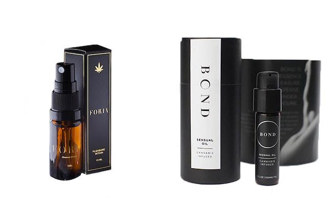 Foria and Bond cannabis sensual oils
