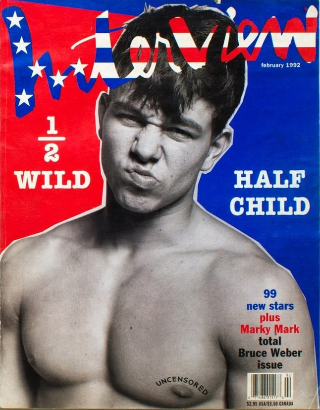 Mark Wahlberg on the cover of 'Interview'