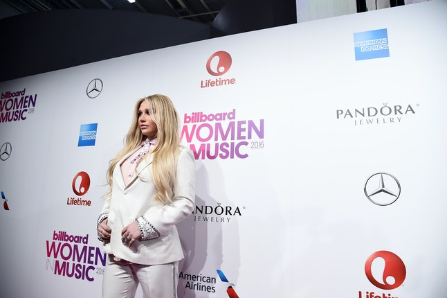 Kesha attended the Billboard Women in Music awards in December 2016.