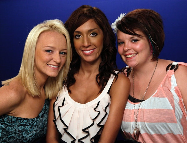 From left, Teen Moms Maci Bookout, Farrah Abraham and Catelynn Lowell.