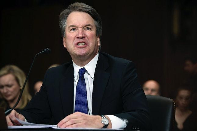 Brett Kavanaugh denies allegations of sexual assault during an acrimonious hearing on Capitol Hill Thursday.