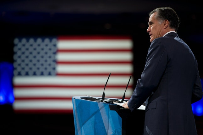 2012 presidential candidate Mitt Romney speaks at the 2013 CPAC.