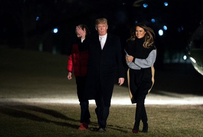Melania Trump, her husband and Barron return to the White House.