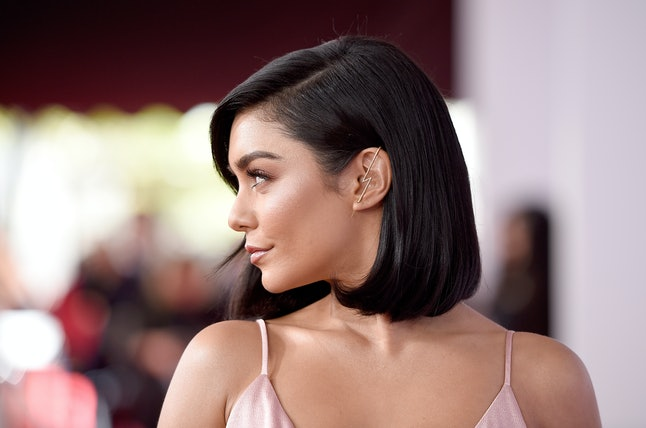Vanessa Hudgens attends the 2018 American Music Awards at Microsoft Theater on Oct. 9 in Los Angeles.