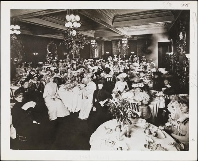 The first ladies' luncheon, April 20, 1868
