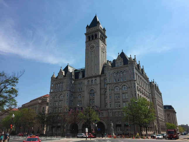 The Old Post Office, a historic building in Washington, D.C., was remodeled to be the Trump International Hotel.