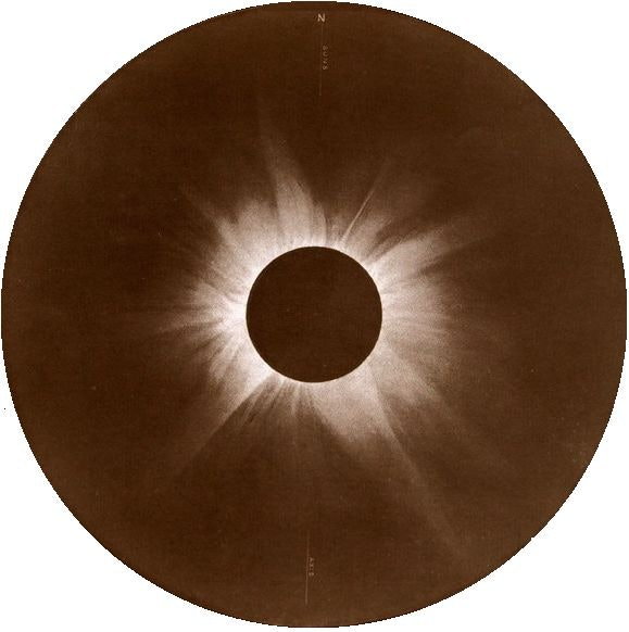 An image of the total eclipse taken by the expedition to Flint Island in 1908.
