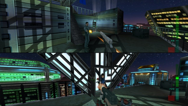 'Perfect Dark' also featured split-screen co-op play.
