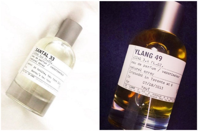 Le Labo fragrances (from left to right, by Instagram users @necessarynothings and @thewhaletherose)